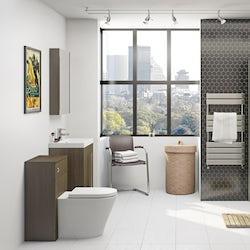 Arden walnut bathroom furniture