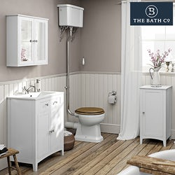 Camberley white bathroom furniture