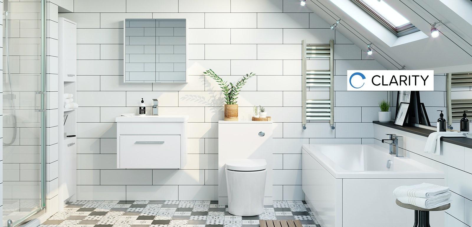 Clarity white bathroom furniture