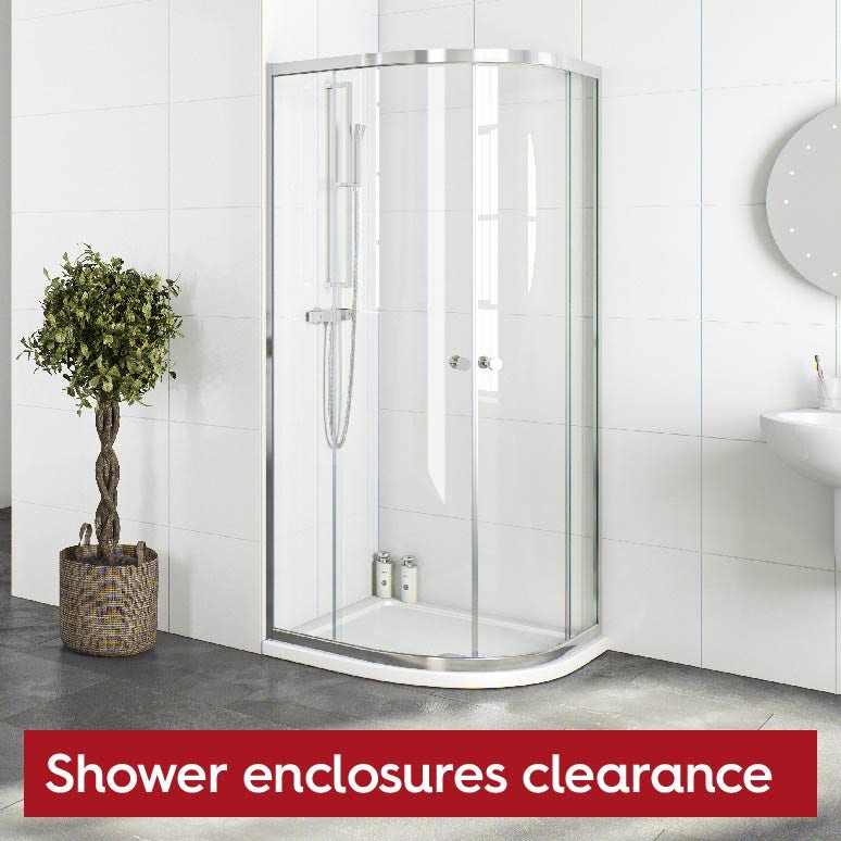 Shower enclosures clearance