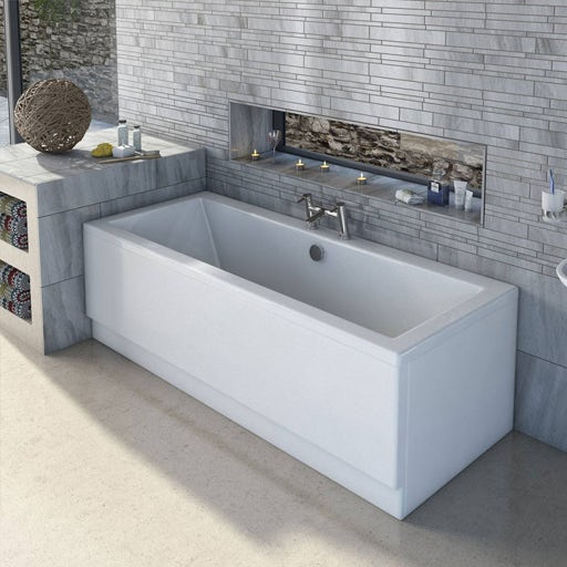 white acrylic double ended bath