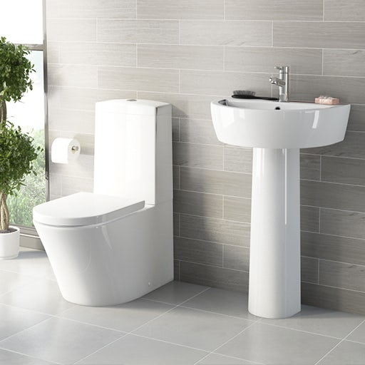 toilet and wall hung basin