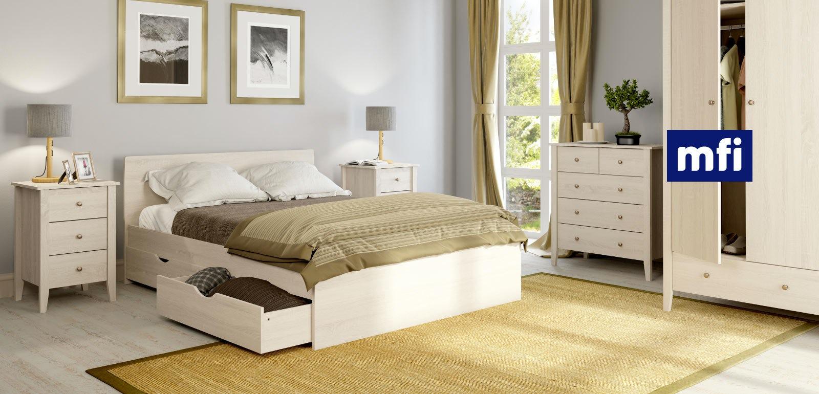 White oak bedroom furniture
