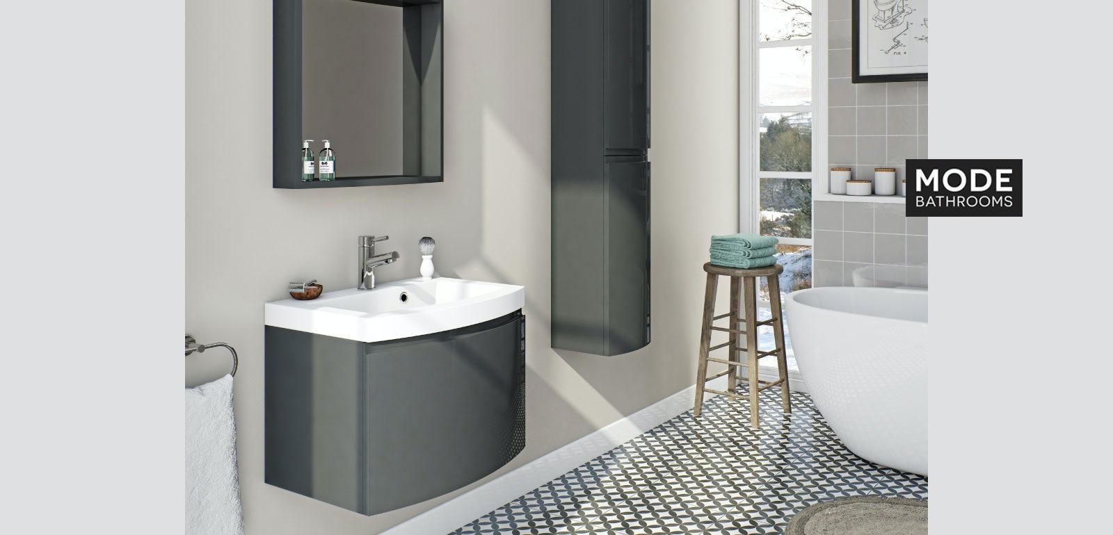 Curvaceous Slate Bathroom Furniture