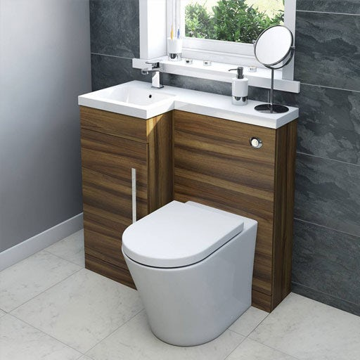 Bathroom furniture storage cabinets from for Bath toilet and sink sets