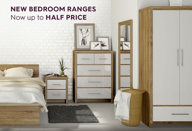 New bedroom ranges now up to half price
