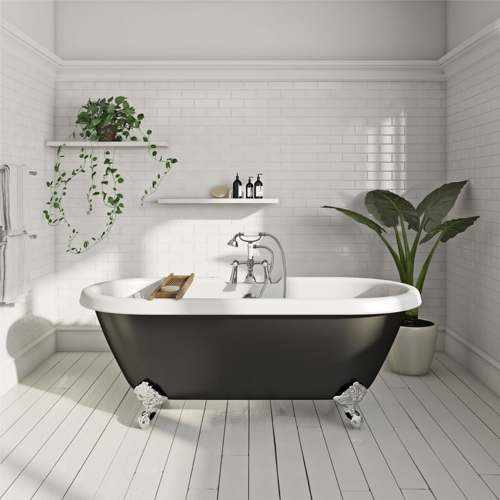 Shakespeare Freestanding Bath Black