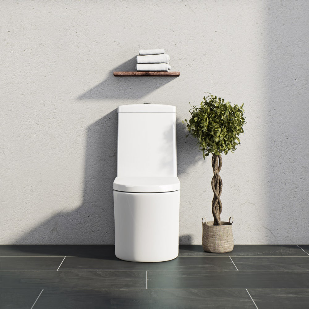 Arc close coupled toilet