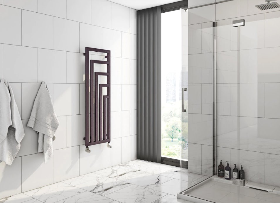 Bathroom showing a Terma radiator