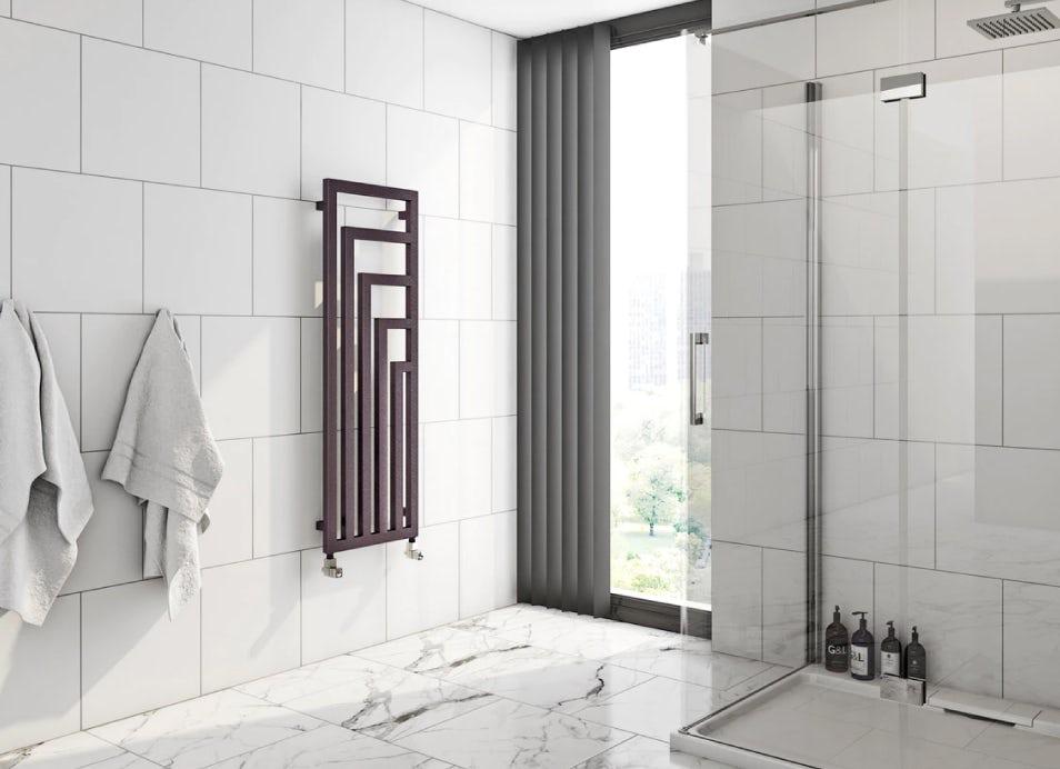 Bathroom showing a Terma radiator