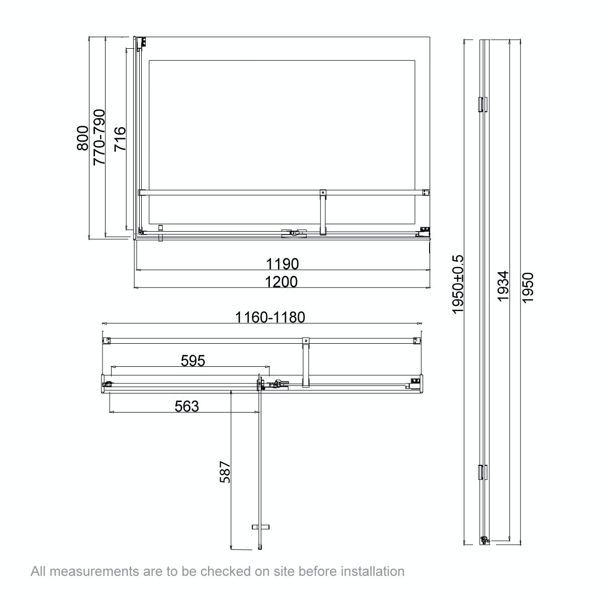 Dimensions for 1200 x 800