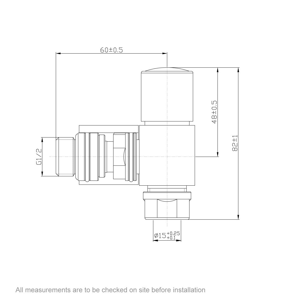Dimensions for Orchard Square angled radiator valves