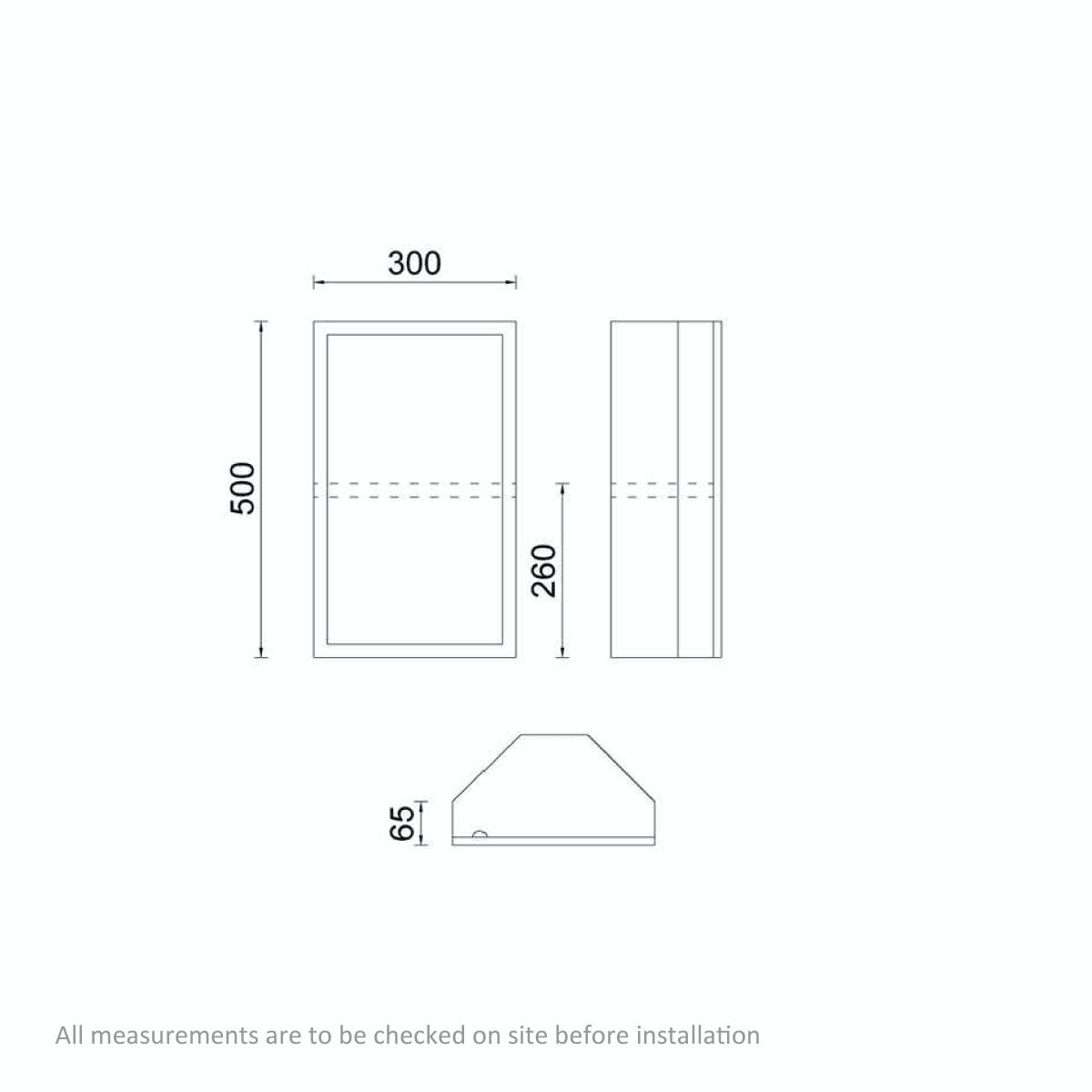 Dimensions for Orchard Radial stainless steel bathroom corner cabinet