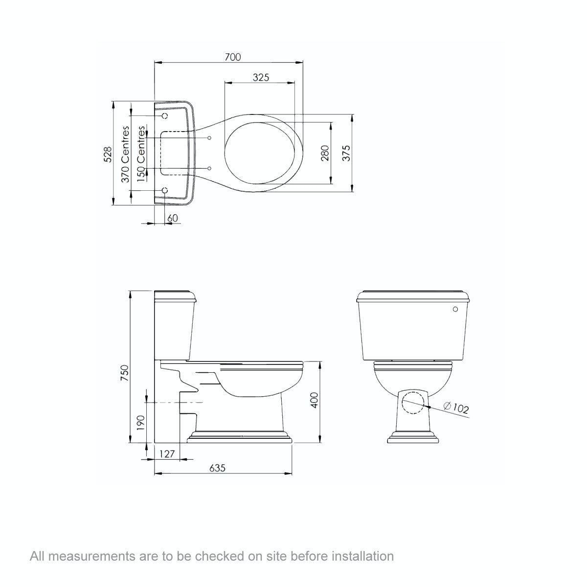 Dimensions for Belle de Louvain Charlet close coupled toilet and full pedestal suite with chrome fittings and taps