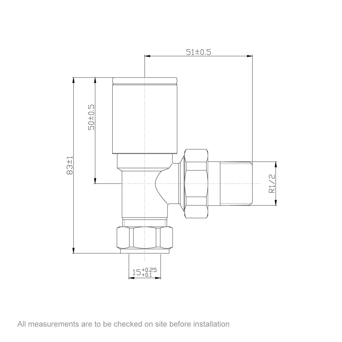 Dimensions for Orchard angled radiator valves