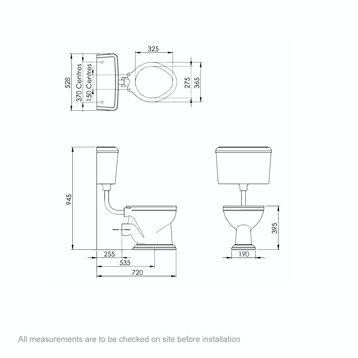 Dimensions for Belle de Louvain Bellini low level toilet and full pedestal suite with incalux fittings and taps