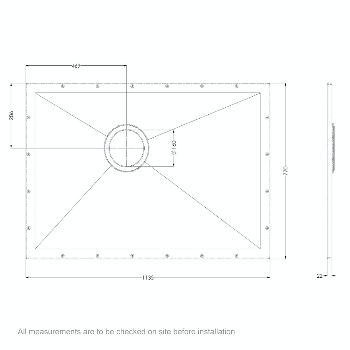Dimensions for 1135 x 770