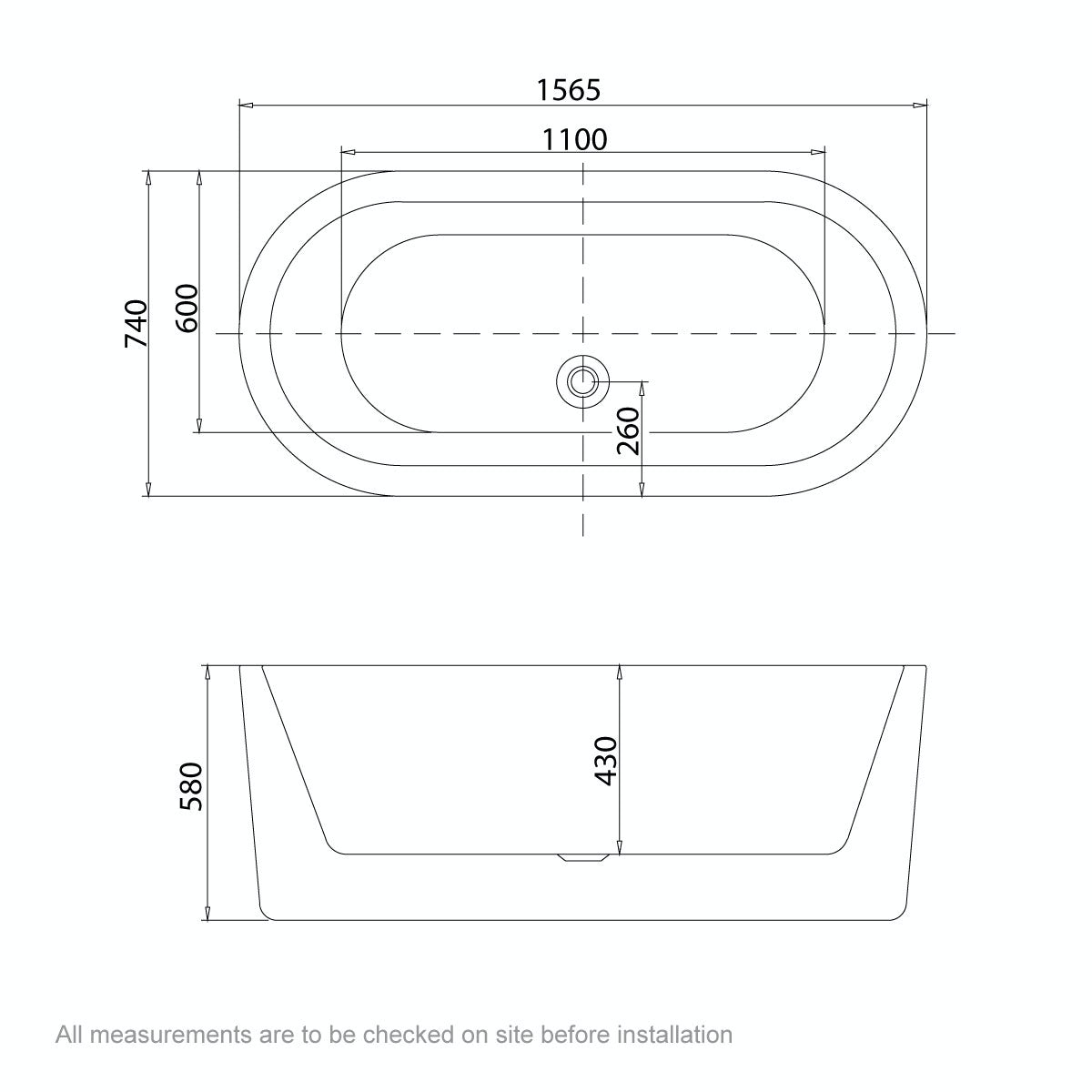 Dimensions for 1565 x 740