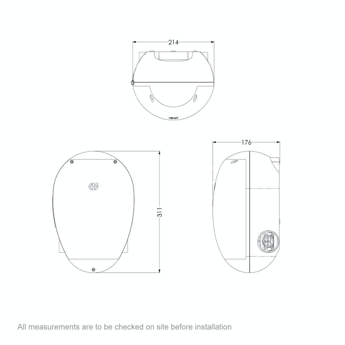 Dimensions for AKW M11 Digipump without waste