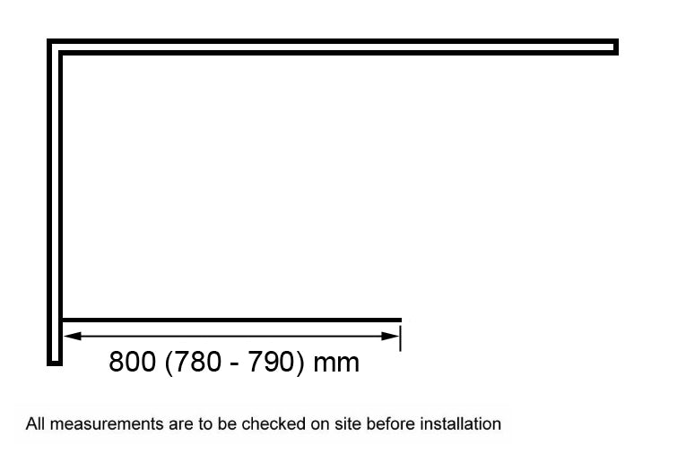 Dimensions for 800mm