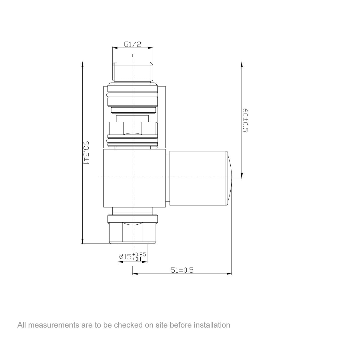 Dimensions for Orchard Square straight radiator valves
