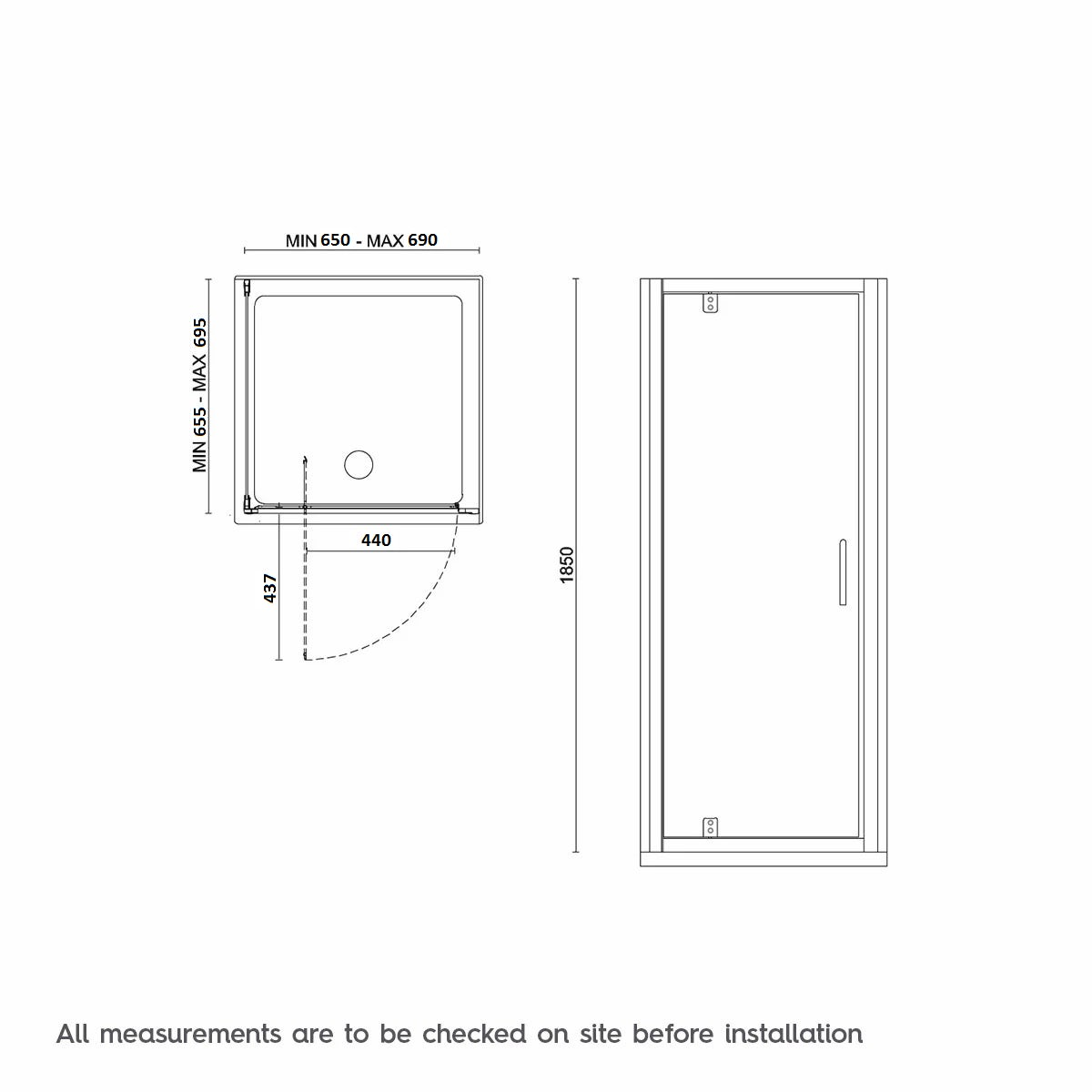 Dimensions for 700 x 700