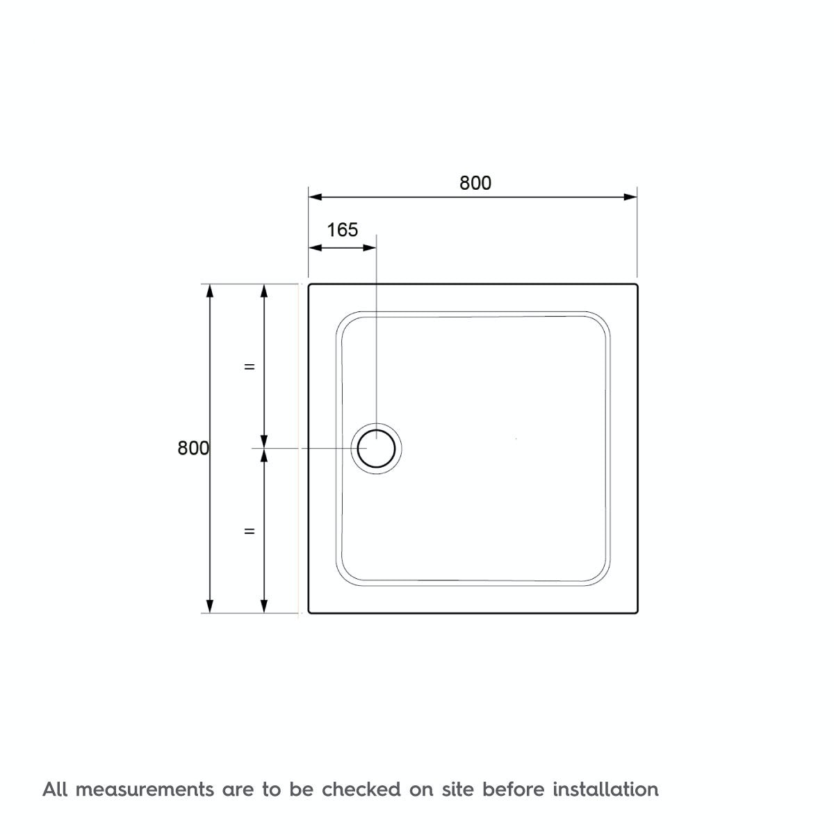 Dimensions for 800 x 800