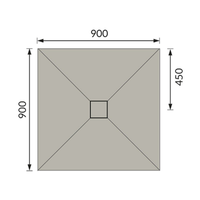 Dimensions for 900 x 900