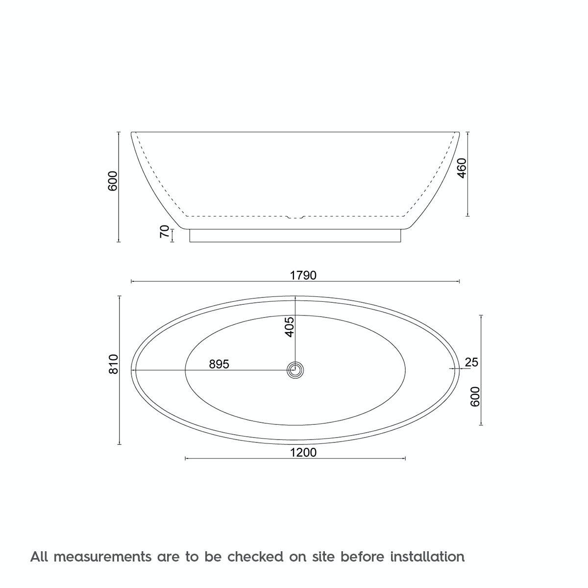 Mode Harrison freestanding bath 1790 x 810 | VictoriaPlum.com