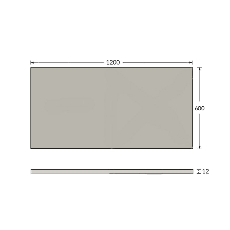 Dimensions for Orchard Waterproof Wall Kit  4.32 Sq M