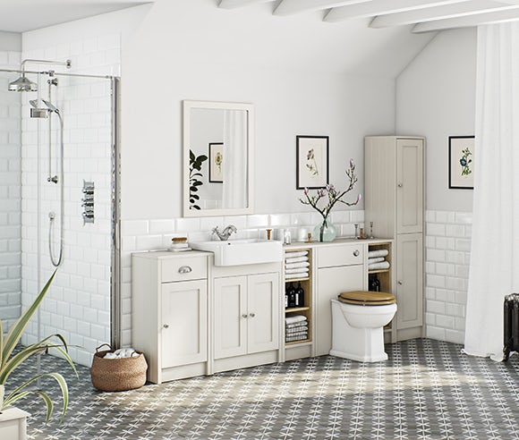 Dulwich stone ivory bathroom furniture