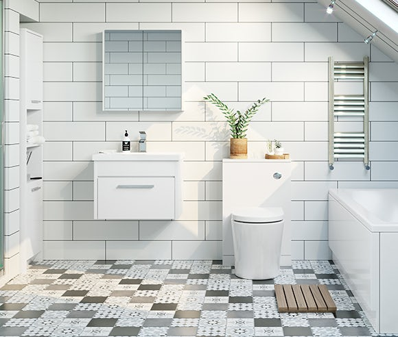 Clarity white bathroom furniture
