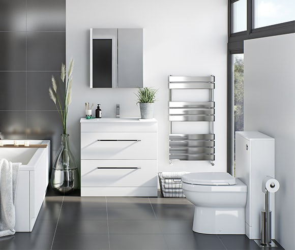 Derwent white bathroom furniture