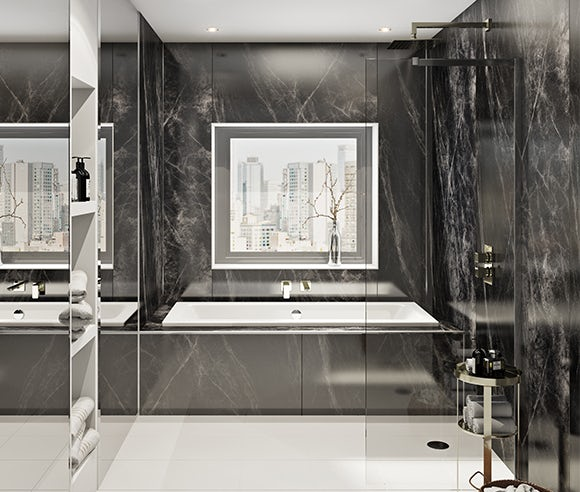Shower wall panels