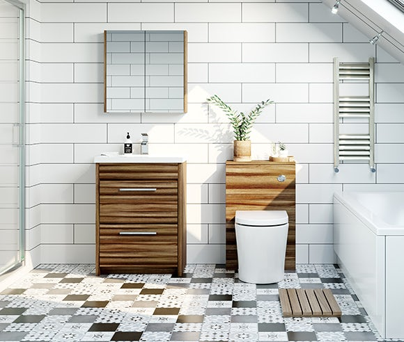Clarity walnut bathroom furniture