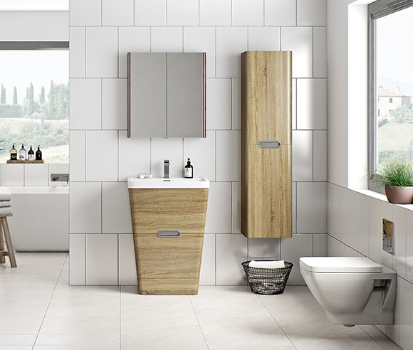 Sherwood oak bathroom furniture