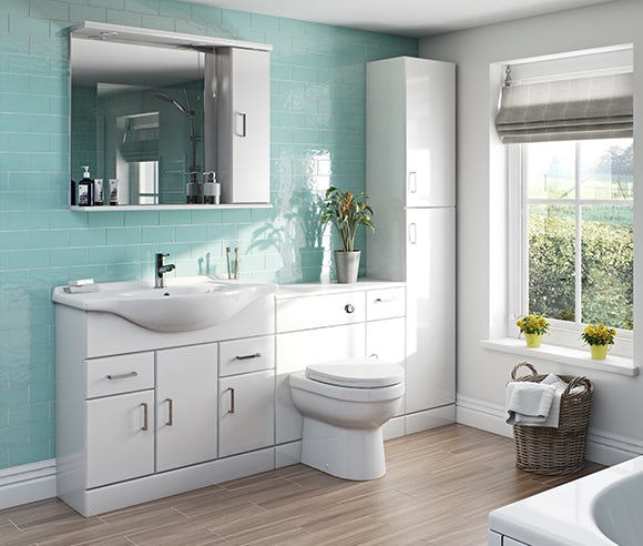 Eden white bathroom furniture