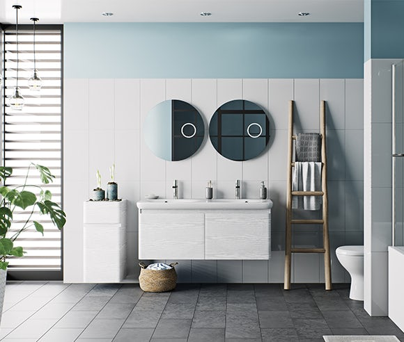 Heath white bathroom furniture