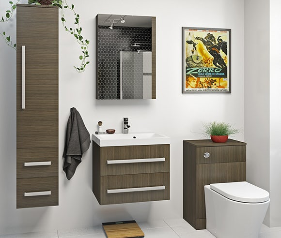 Wye walnut bathroom furniture