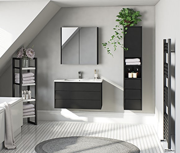 Cooper anthracite bathroom furniture