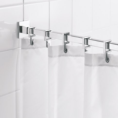 Shower curtains and rails