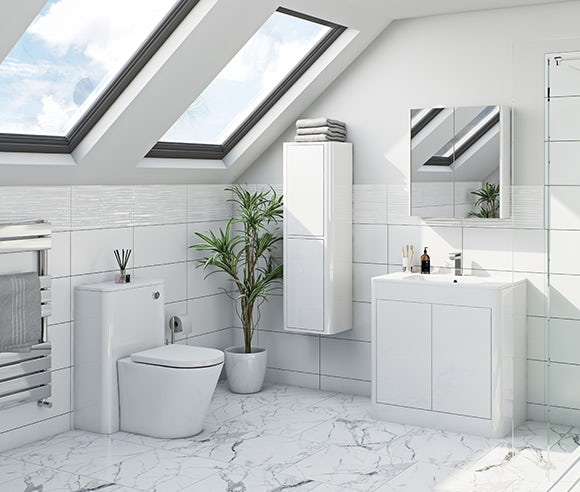Carter ice white bathroom furniture