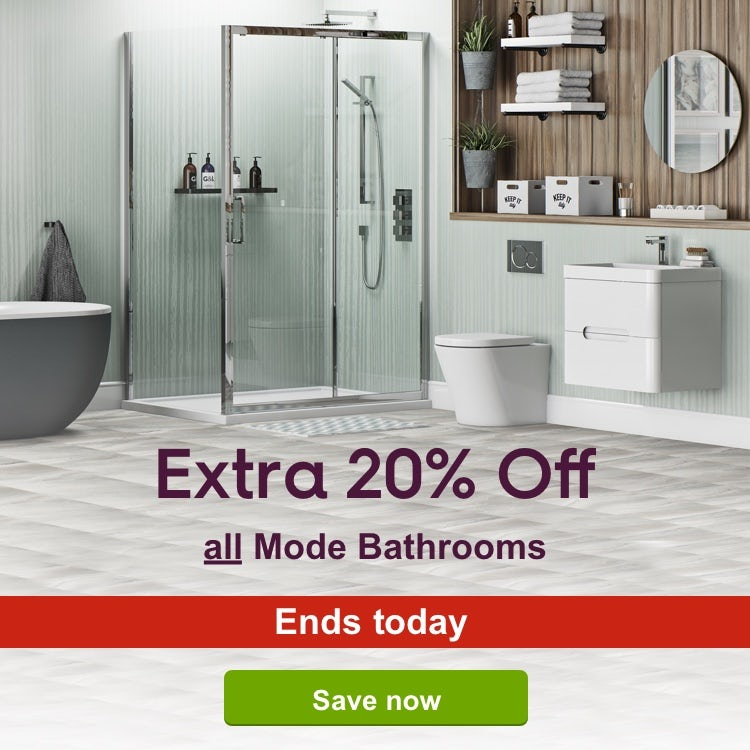 Extra 20% off all Mode Bathrooms