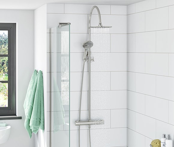 Contemporary mixer showers