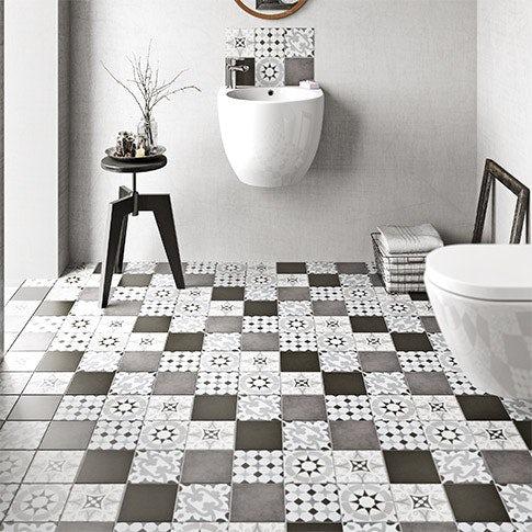 Patchwork tile range