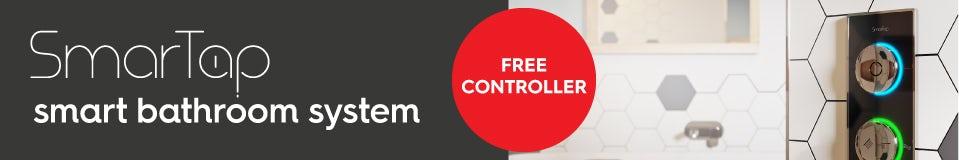 Free controller with SmarTap smart bathroom sets