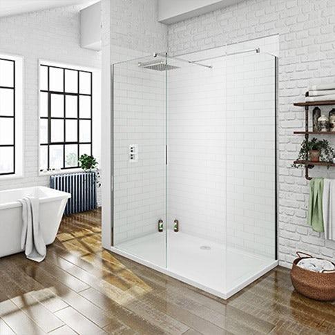 Walk-in shower enclosures