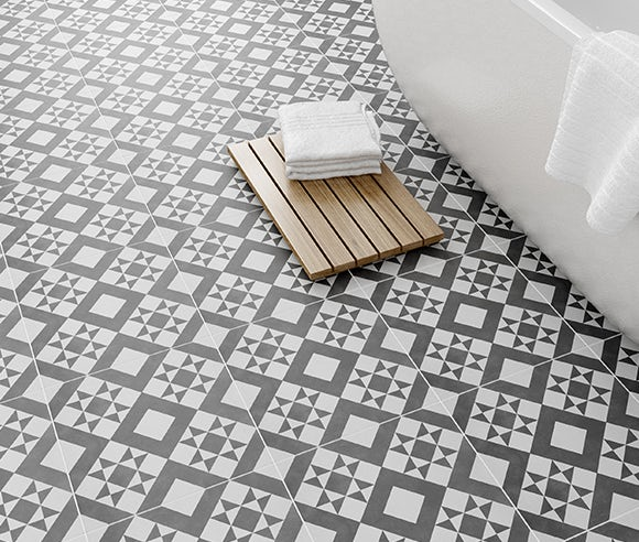 Save 15% on feature floor tiles