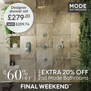 Get an extra 20% off all Mode Bathrooms