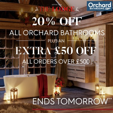 Get The Lodge look with 20% off all Orchard Bathrooms